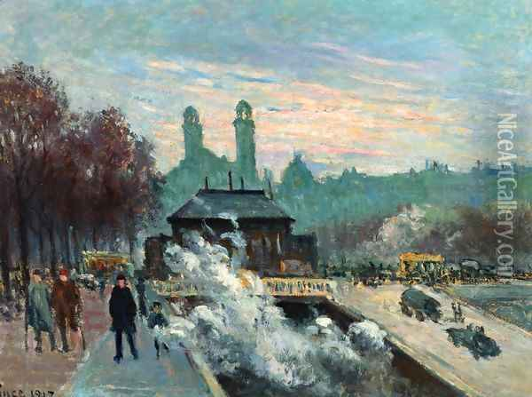 The Trocadero Oil Painting - Maximilien Luce