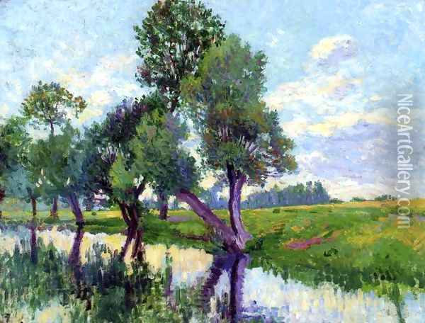 The Banks of the Cure Oil Painting - Maximilien Luce