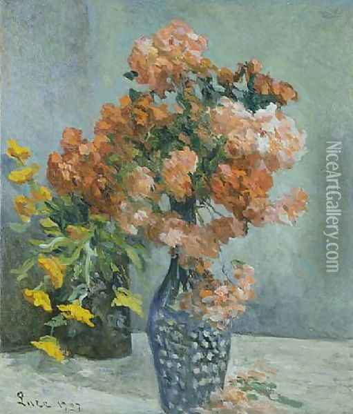 Vase of flowers Oil Painting - Maximilien Luce