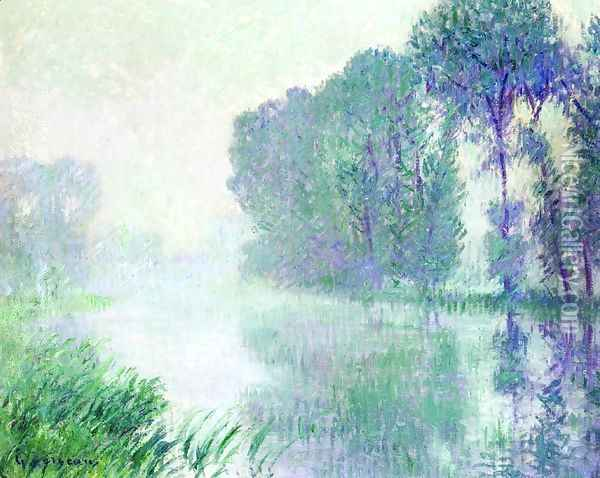 Fog, Morning Effect Oil Painting - Gustave Loiseau