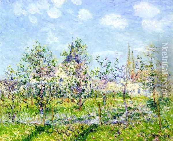 Flowering Orchard, Spring Oil Painting - Gustave Loiseau