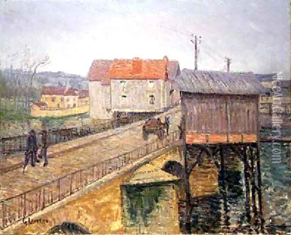 The Bridge at Moret Oil Painting - Gustave Loiseau