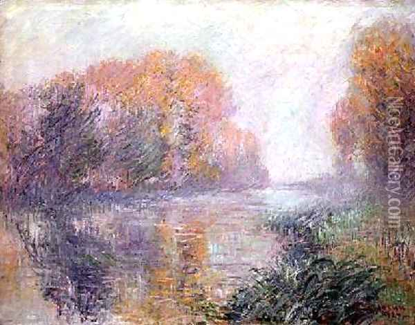 The Banks of the Eure 1920 Oil Painting - Gustave Loiseau