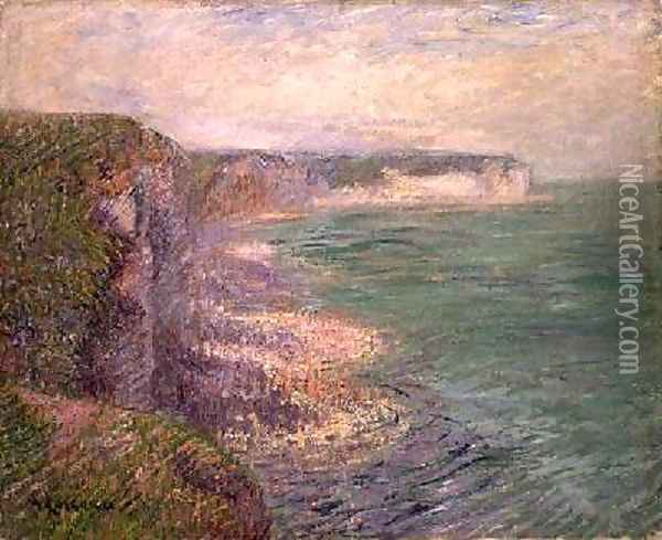The Cliffs at Fecamp 1920 Oil Painting - Gustave Loiseau