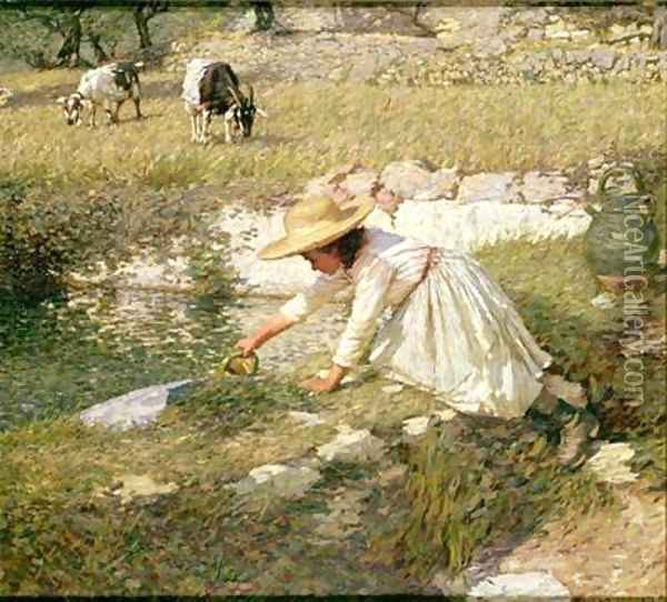 Provencal Spring Oil Painting - Henry Herbert La Thangue