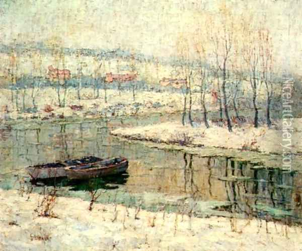 Spring Thaw Oil Painting - Ernest Lawson