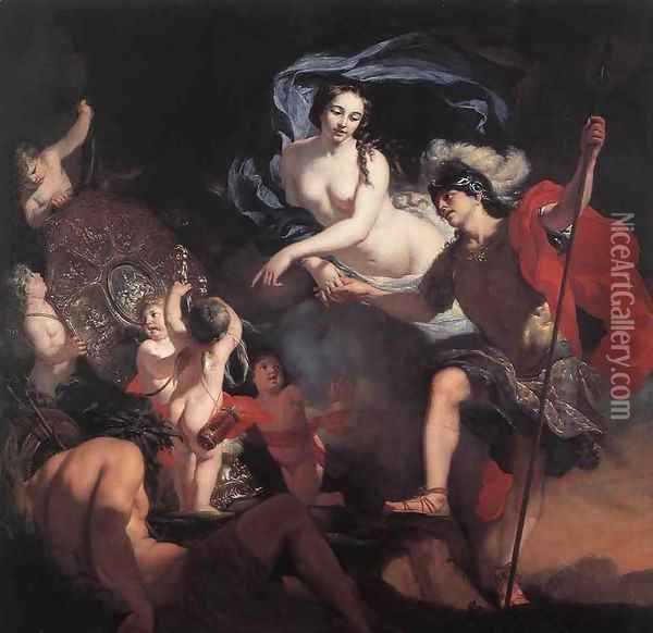 Venus Presenting Weapons to Aeneas Oil Painting - Gerard de Lairesse