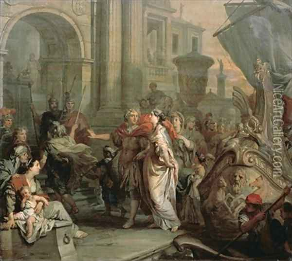 The Disembarkation of Cleopatra at Tarsus Oil Painting - Gerard de Lairesse