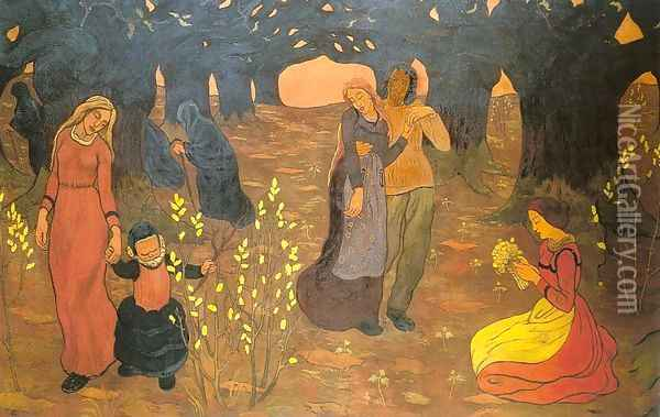 The Ages of Life 1894 Oil Painting - Georges Lacombe