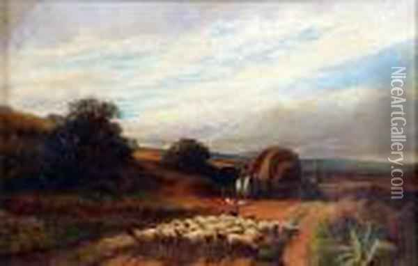The Sheep Drovers Oil Painting - Peter de Wint