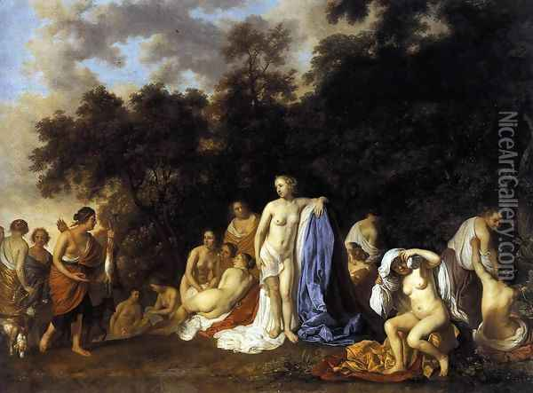 Diana and Her Nymphs 1654 Oil Painting - Jacob van Loo