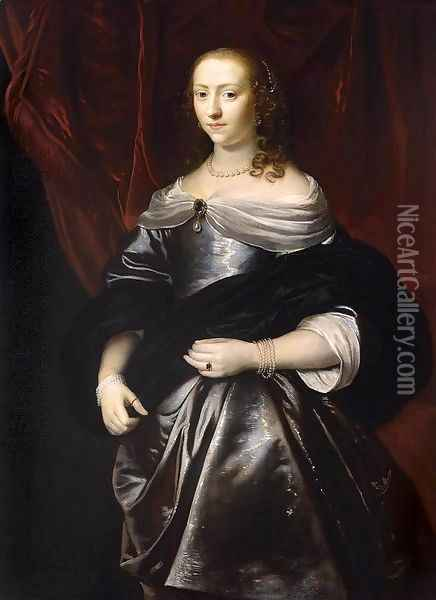 Portrait of Lucretia Boudaen Oil Painting - Jacob van Loo
