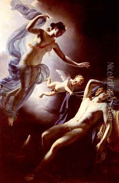 Diane Et Endymion (Diane and Endymion) Oil Painting - Jerome Martin Langlois