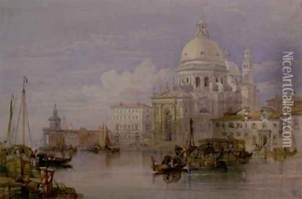 Santa Maria della Salute from the Grand Canal Oil Painting - William Leighton Leitch