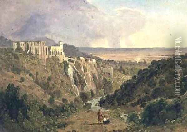 Tivoli with the campagna beyond Oil Painting - William Leighton Leitch