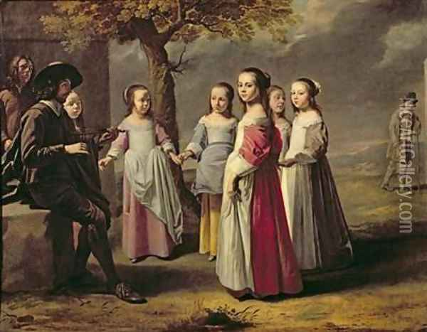 The Childrens Dance Oil Painting - Mathieu Le Nain