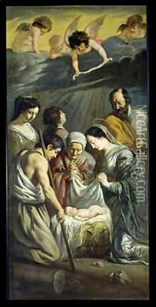 The Adoration of the Shepherds 2 Oil Painting - Mathieu Le Nain