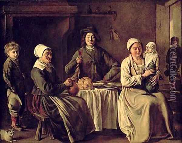 The Peasant Family Oil Painting - Mathieu Le Nain