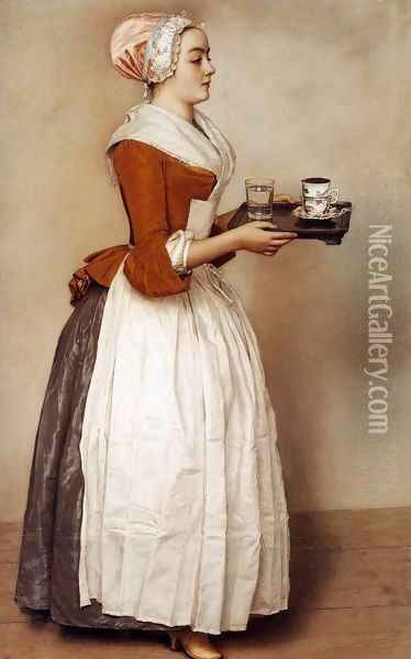 The Chocolate Girl 1744-45 Oil Painting - Etienne Liotard