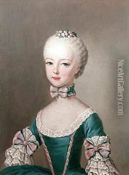 Marie Antoinette 1755-93 daughter of Emperor Francis I and Maria Theresa of Austria Oil Painting - Etienne Liotard