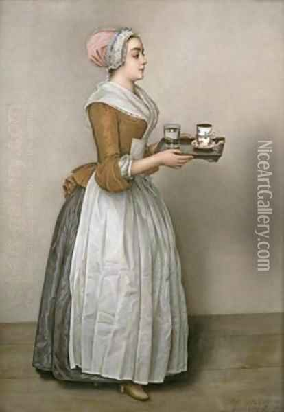 The Chocolate Girl Oil Painting - Etienne Liotard