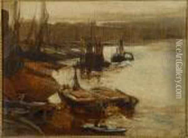 Attributed To Charles Edward Dixon Oil Painting - Charles Edward Dixon
