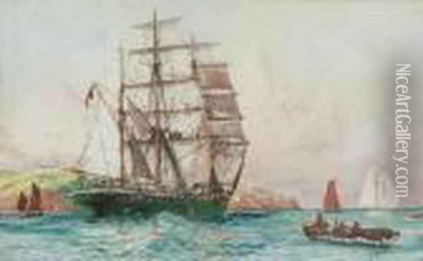 The Barque Oil Painting - Charles Edward Dixon