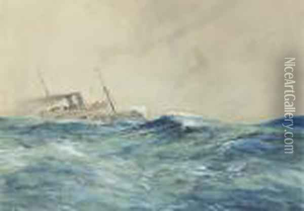 The Storm Oil Painting - Charles Edward Dixon