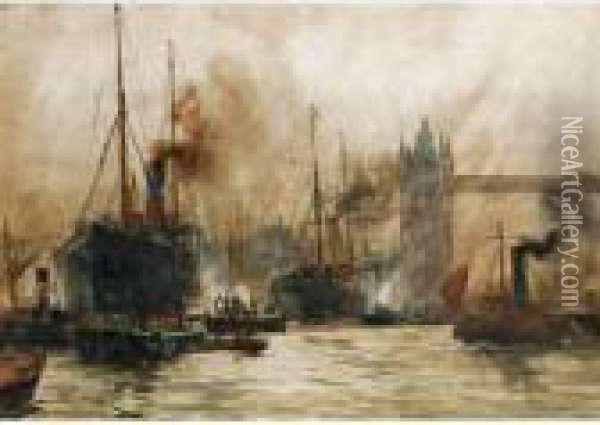 The Pool Of London Oil Painting - Charles Edward Dixon