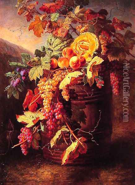 Luscious Fruits Oil Painting - Jean Pierre Lays