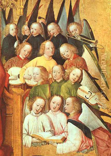 Coronation of the Vigin (detail) 1465 Oil Painting - Master of the Life of the Virgin