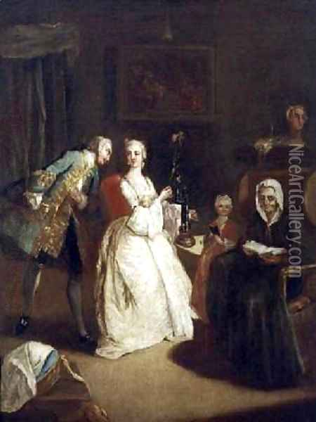The Declaration of Love Oil Painting - Pietro Longhi