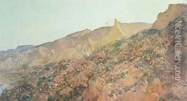 Anzac The Landing Oil Painting - George W. Lambert