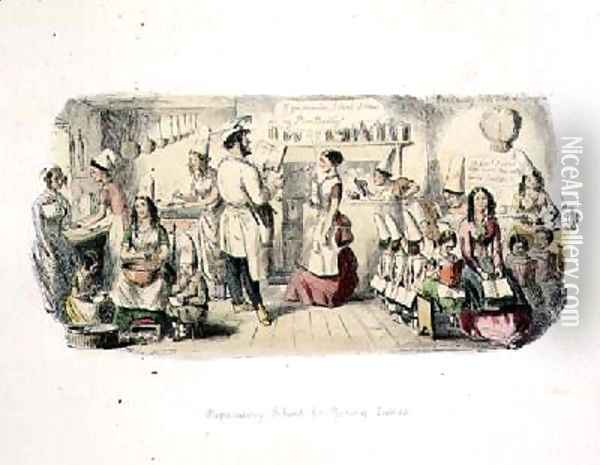 Preparatory School for Young Ladies Oil Painting - John Leech