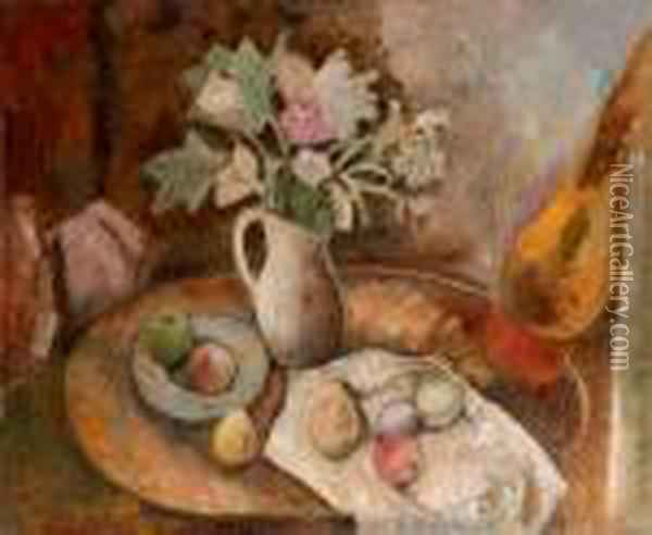 Bouquet Et Fruits Oil Painting - Charles Georges Dufresne