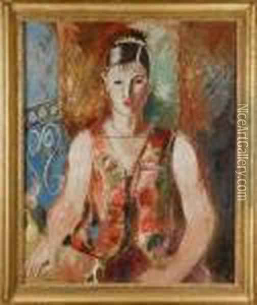 Portrait De Femme Oil Painting - Charles Georges Dufresne