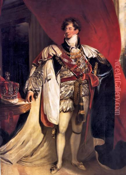 Portrait of King George IV Oil Painting - Sir Thomas Lawrence