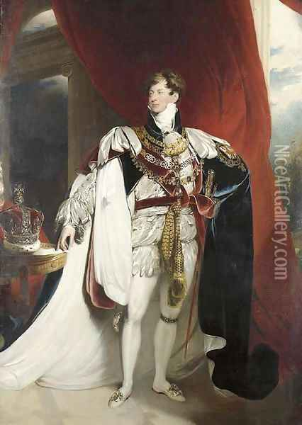 Portrait of King George IV (1762-1830) Oil Painting - Sir Thomas Lawrence