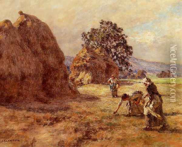The Gleaners 1922 Oil Painting - Leon Augustin Lhermitte