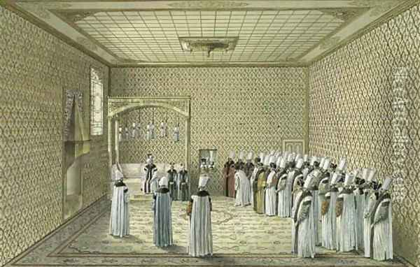 The Presentation of an Ambassador to the Sultan in the Throne Room ...