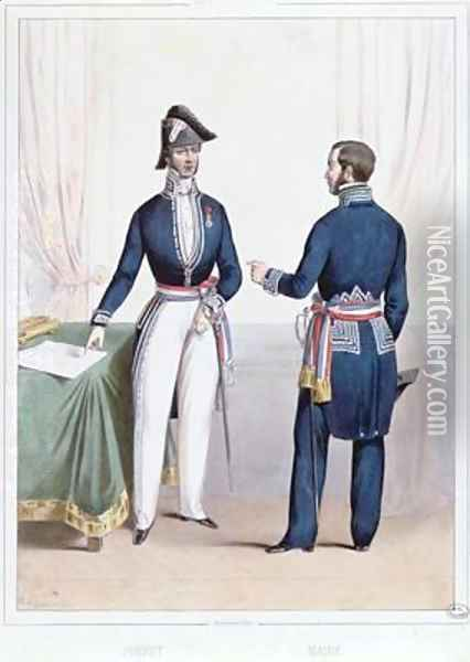 French Prefect and Mayor during the period 1830-47 of the July Monarchy in France Oil Painting - Lacauchie, Alexandre