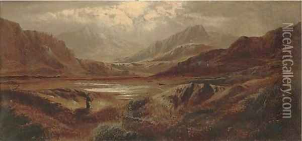 In the Tyndrum Valley, Argyleshire Oil Painting - Charles Leslie