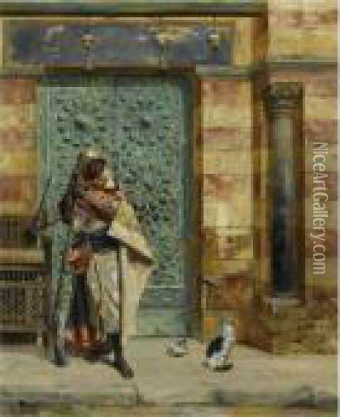 The Nubian Guard Oil Painting - Rudolph Ernst
