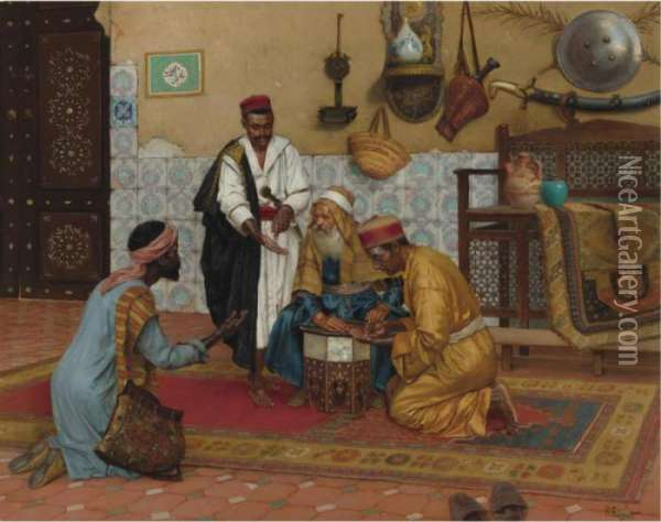 A Hard Bargain Oil Painting - Rudolph Ernst