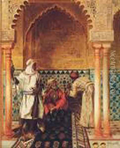 The Arab Sage Oil Painting - Rudolph Ernst