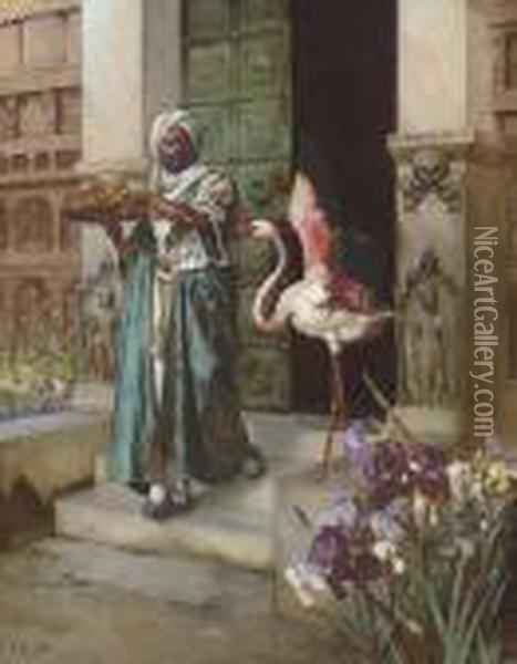 Entering The Palace Gardens Oil Painting - Rudolph Ernst