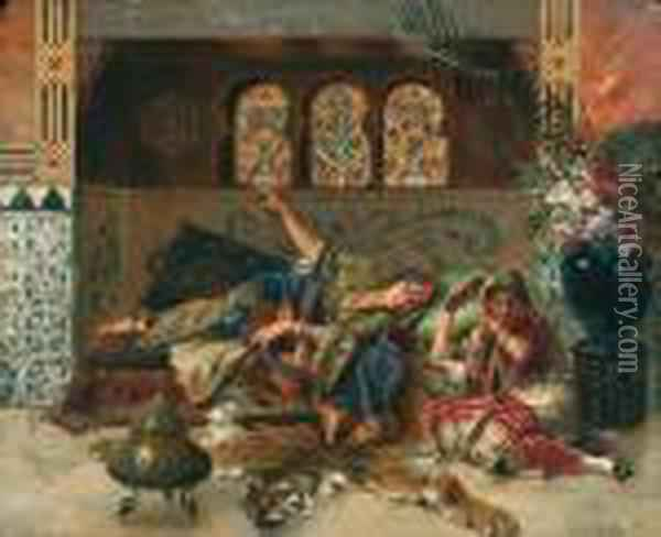 In The Harem Oil Painting - Rudolph Ernst