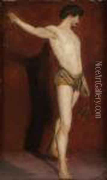 Full Length Study Of David Oil Painting - William Etty