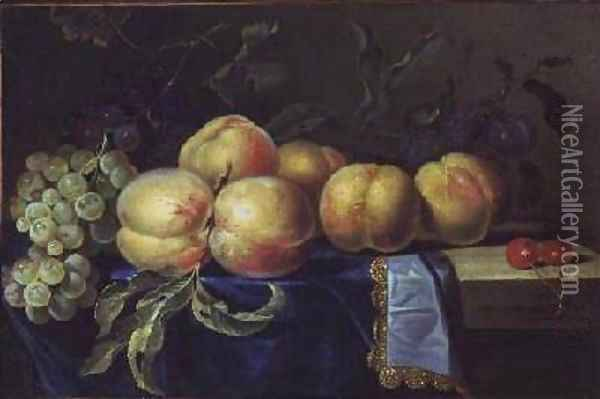 Still Life of Fruit Oil Painting - Paul Liegeois