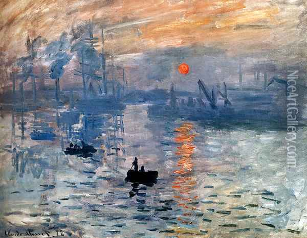 Impression Sunrise Oil Painting - Claude Oscar Monet